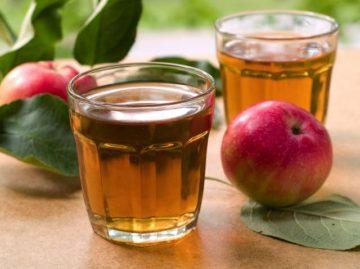 養命酒のリンゴジュース割