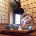 酒器 徳利 お猪口 セット 冷酒 ガラス(カラフェ 1個、グラス 2個)